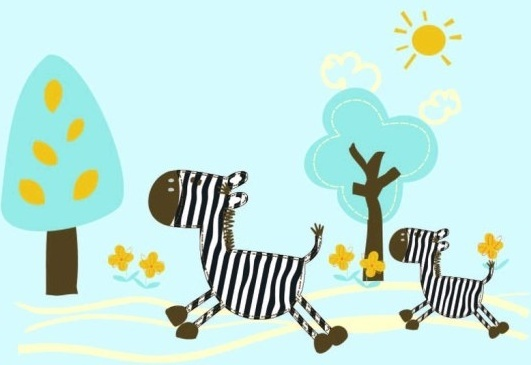 531x365 Cartoon Zebra Clip Art Free Vector Download (214,210 Free Vector