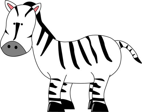 500x392 Cartoon Zebra Clipart Animals Clip Art