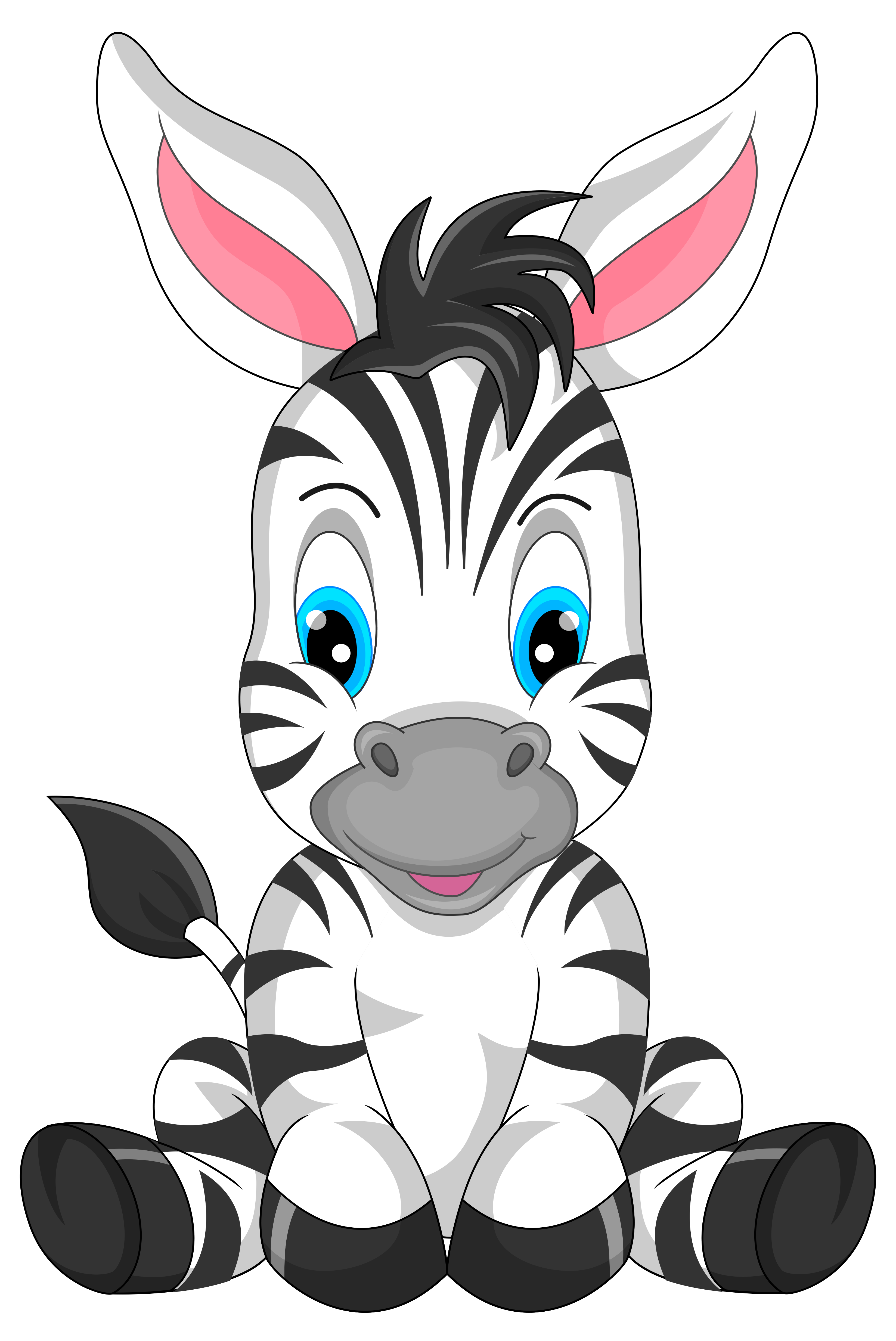 3295x4932 Cute Zebra Cartoon Png Clipart Imageu200b Gallery Yopriceville