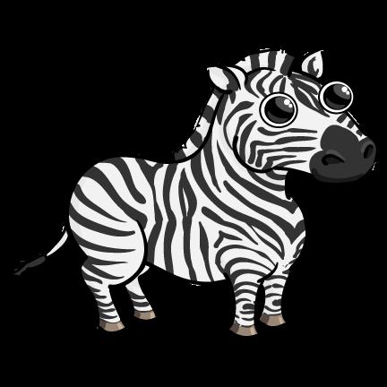 432x432 Moving clipart zebra
