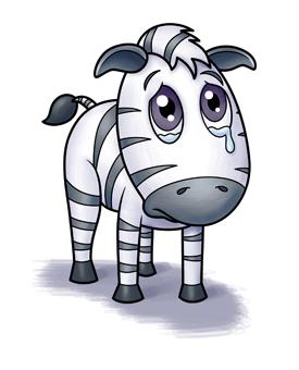 275x340 Sad clipart zebra