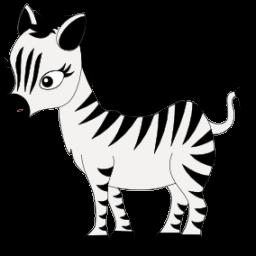 256x256 Baby Shower Zebra Clipart