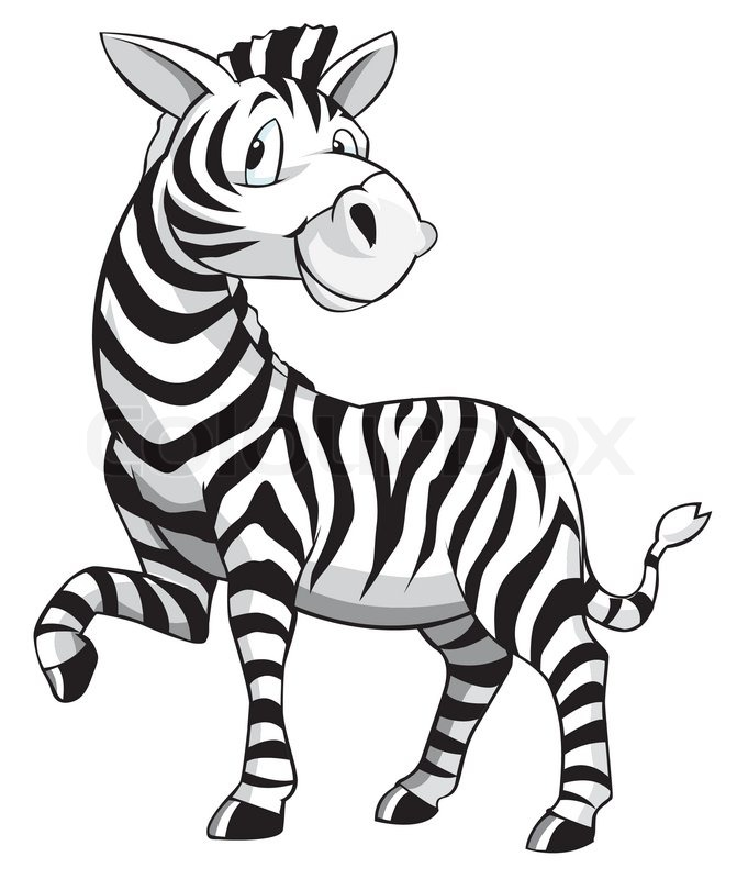 671x800 Zebra Cartoon Vector Colourbox Craft