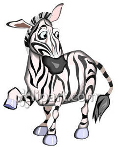 243x300 Cartoon Zebra