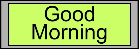 563x200 Good Morning Animation Free Animated Good Messages Clipart 2