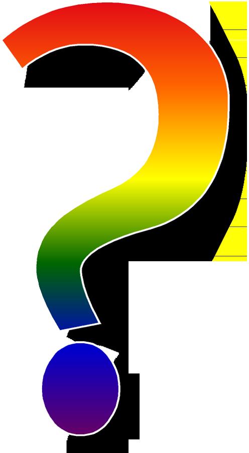 496x900 Rainbow Clipart Question Mark