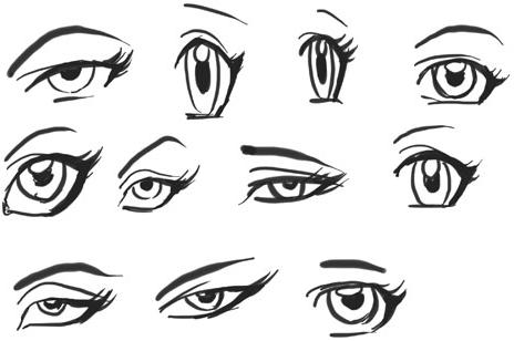 464x308 Draw Anime Eyes (Females) How To Draw Manga Girl Eyes Drawing