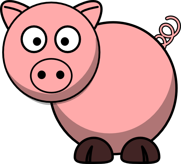 600x546 Cartoon Pig Clipart
