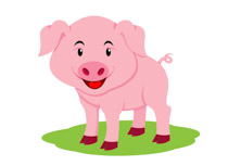 210x153 Free Pig Clipart