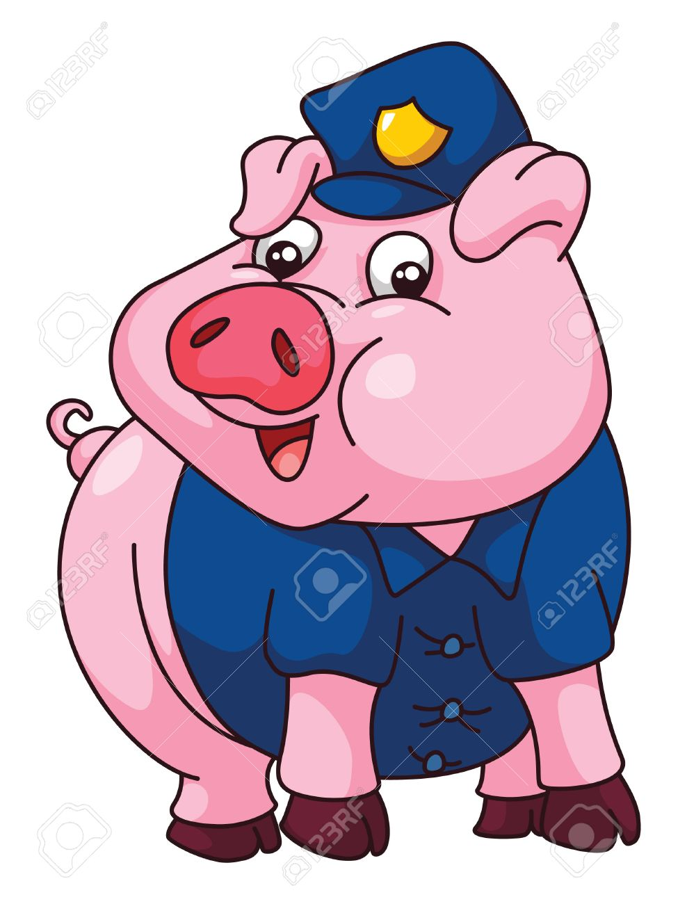 988x1300 Pig Police Royalty Free Cliparts, Vectors, And Stock Illustration