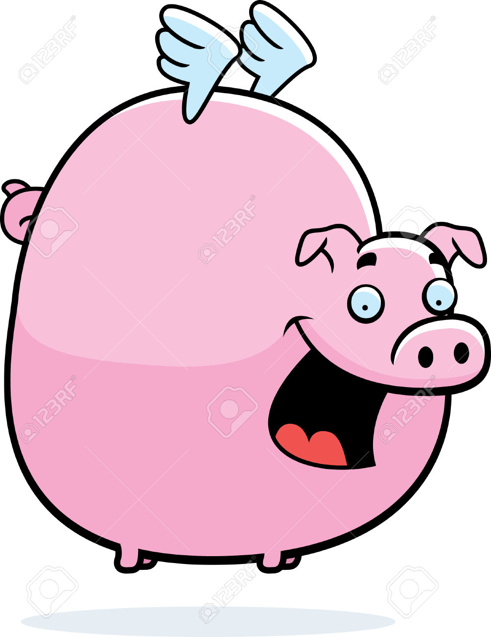 1003x1300 Pig With Wings Clipart
