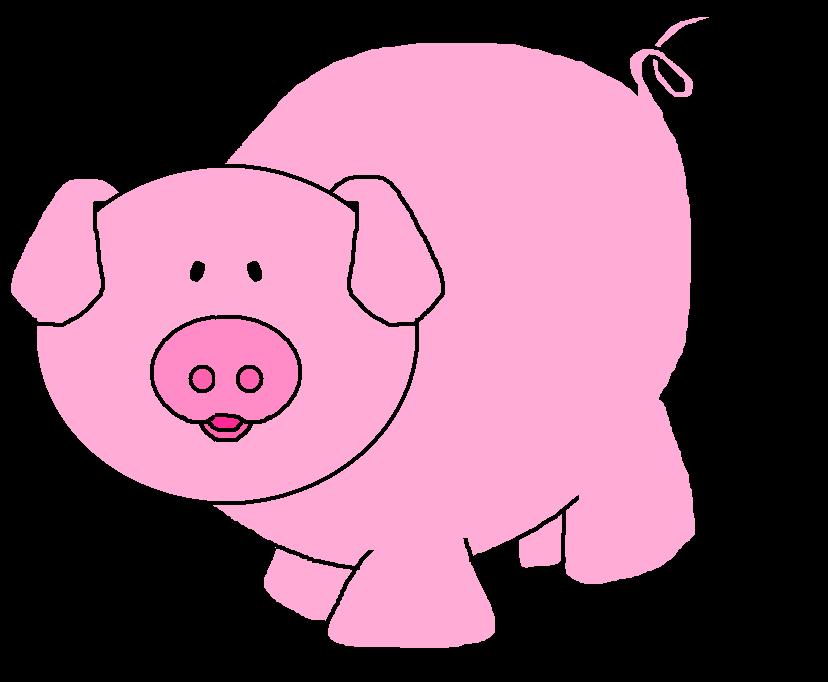 828x682 Pigs Cartoon Pig Clipart