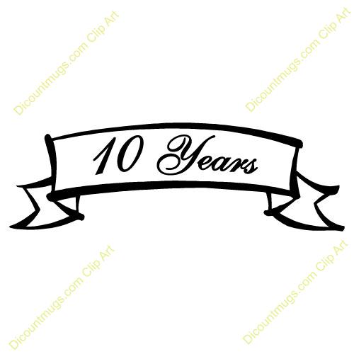500x500 10th Anniversary Clipart