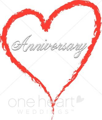 332x388 Anniversary Heart Clipart Wedding Anniversary Clipart