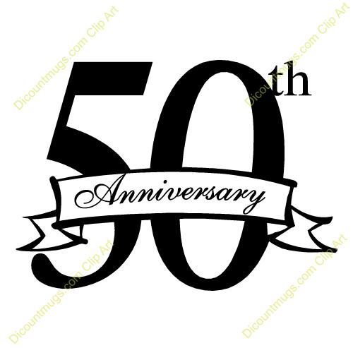 500x493 50th Anniversary Clip Art Many Interesting Cliparts