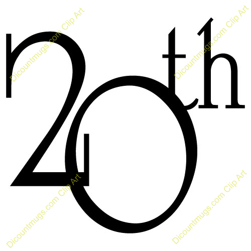 500x500 20th Birthday Clipart