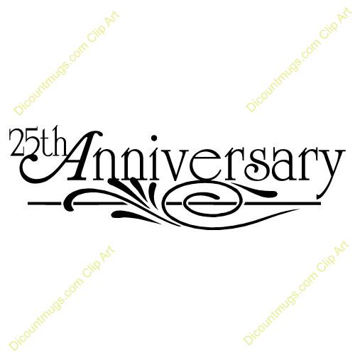 500x500 25th Wedding Anniversary Clipart Free
