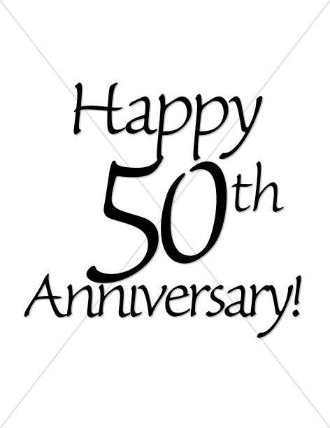 472x612 Happy 50th Anniversary! Wordart Christian Anniversary Clipart