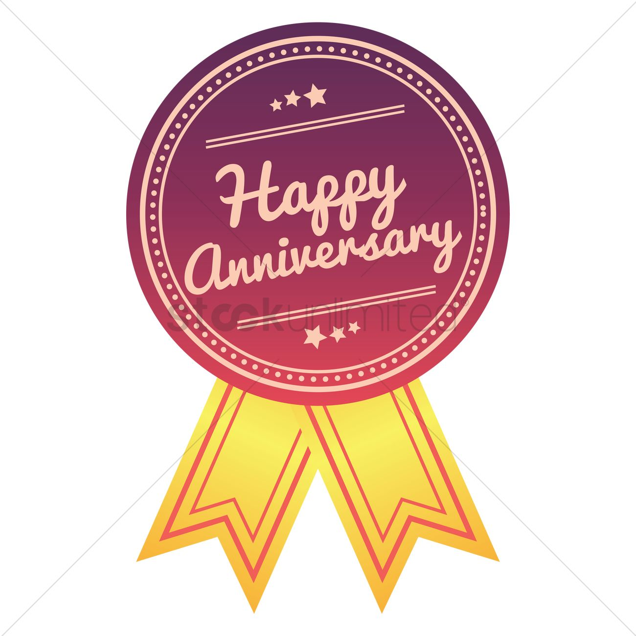 1300x1300 Happy Anniversary Ribbon Vector Image