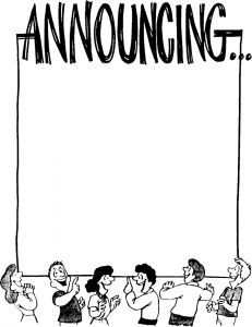 231x300 Image Of Announcement Clipart