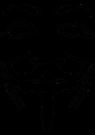 190x270 Anonymous Mask T Shirt D.f.a. Designs