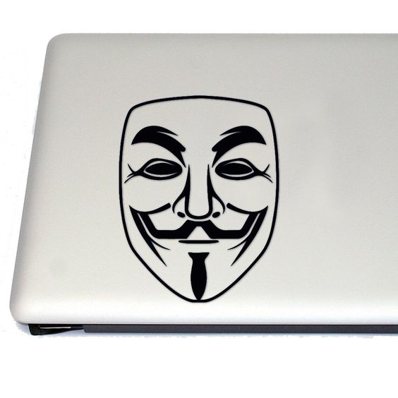564x564 Cosplayfangear Guy Fawkes Anonymous Mask Activism Vinyl Decal Guy