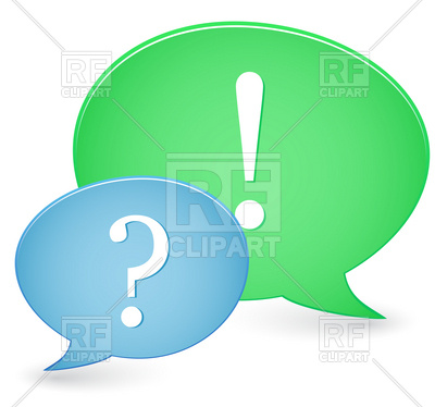 400x374 Question And Answer Sings Inside Speech Bubble Royalty Free Vector