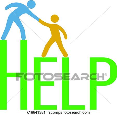 450x441 Clipart Of People Step Up Find Support Help Answer K18841381