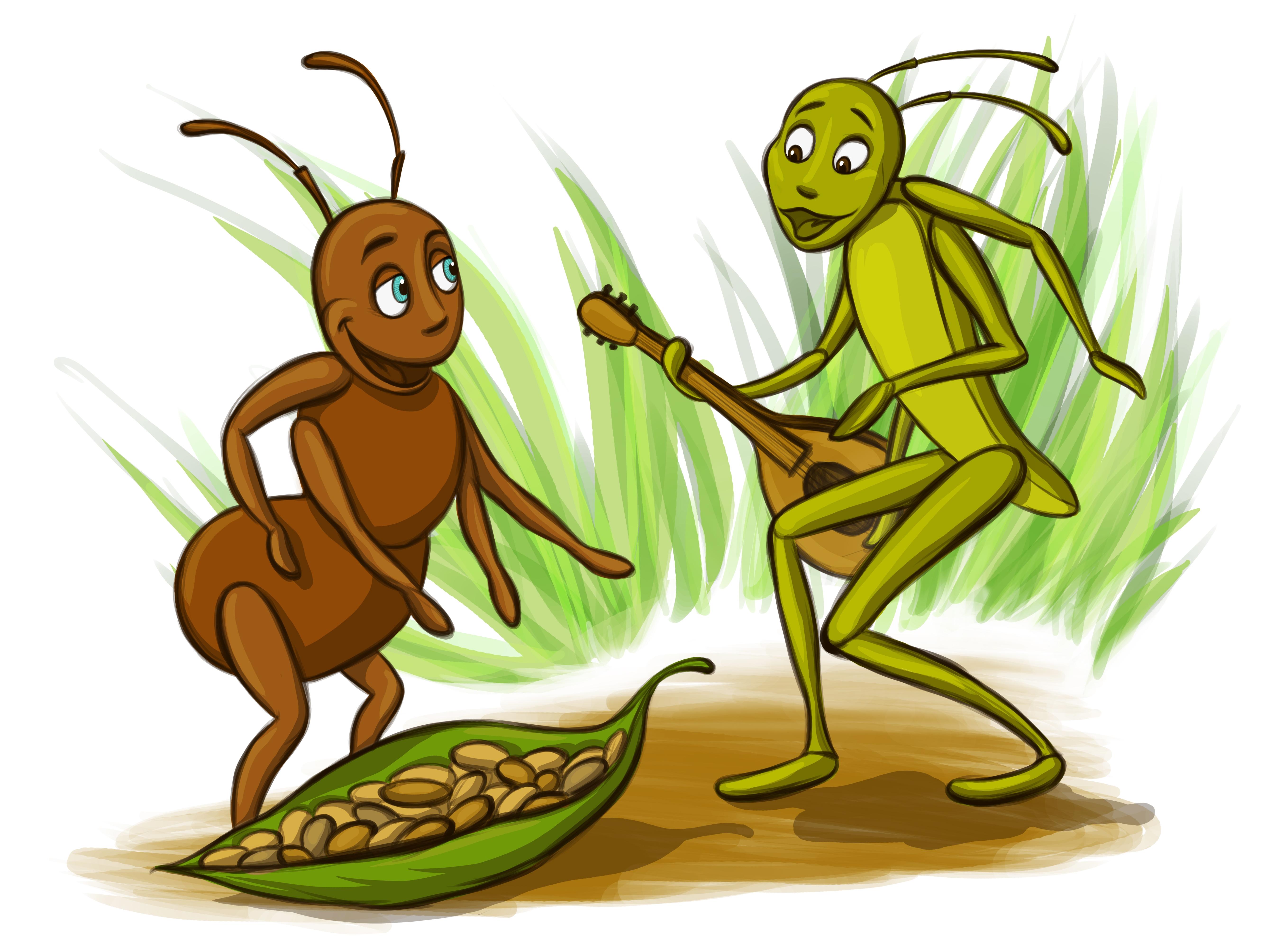 5359x4019 Locust clipart ant