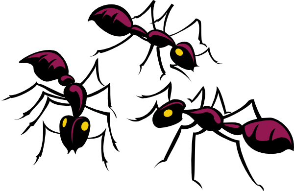 600x390 Three Brown Ants Clip Art