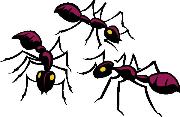 600x390 Three Brown Ants Clip Art