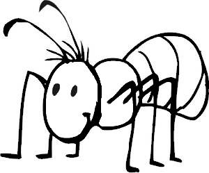 300x249 Black Amp White Clipart Ant