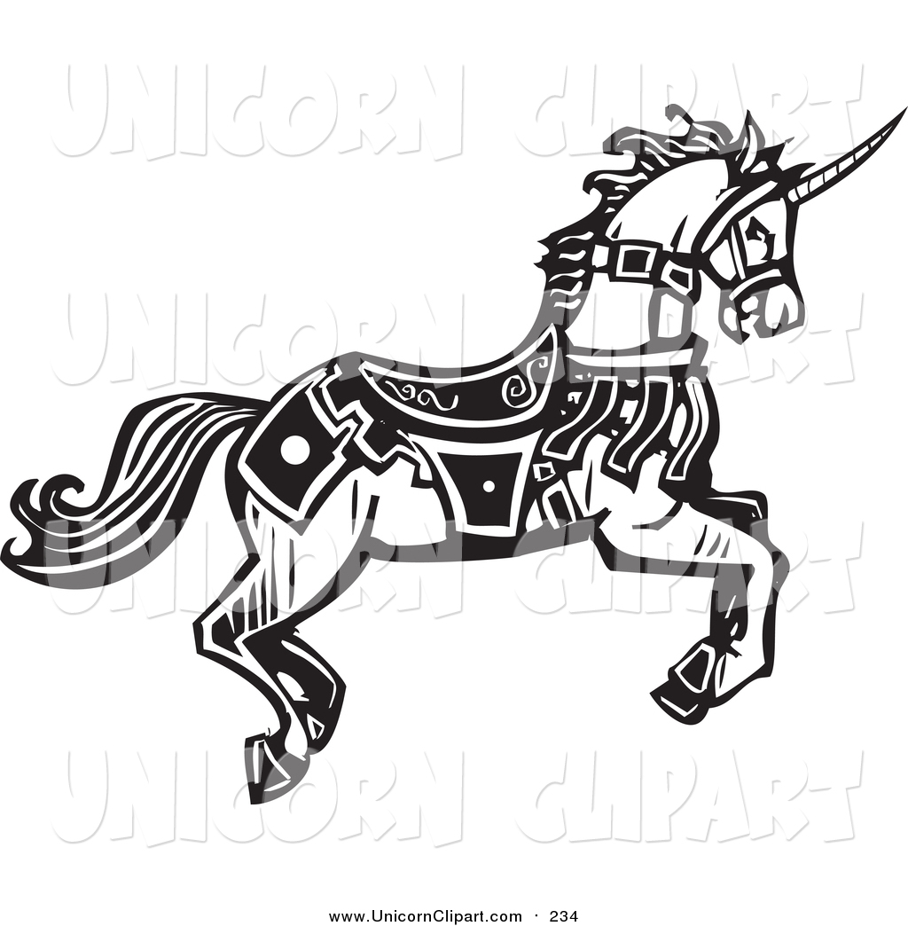 1024x1044 Fantasy Vector Clip Art Of A Black And White Woodcut Running