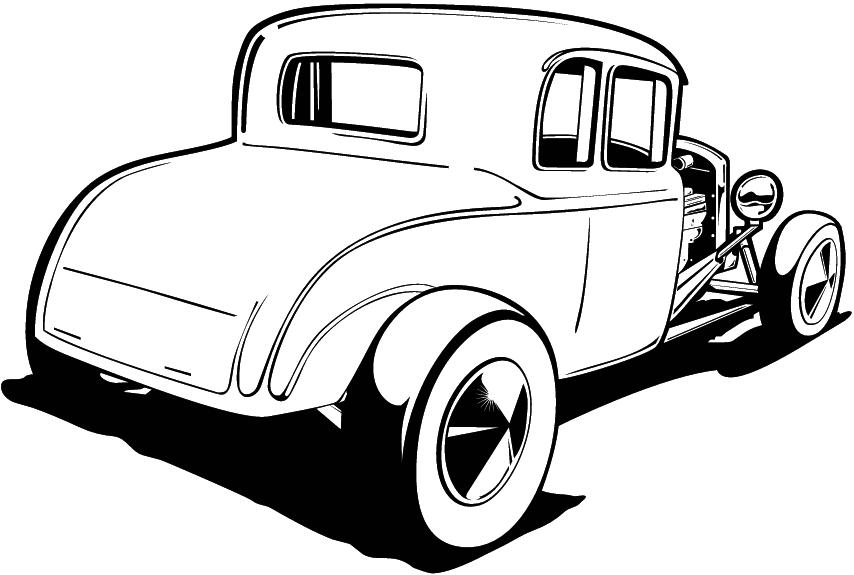 854x575 Classic Car Clipart Rat Rod