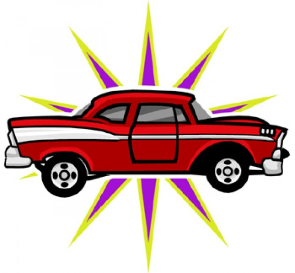 600x555 Classic Car And New Car Picture Clipart