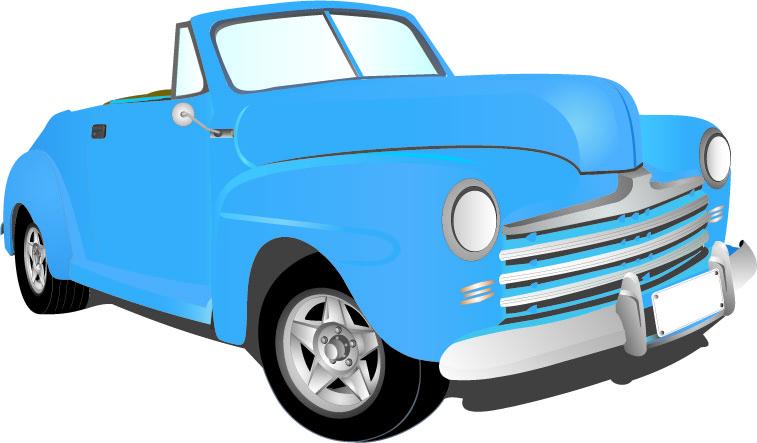 757x443 Clipart Antique Car