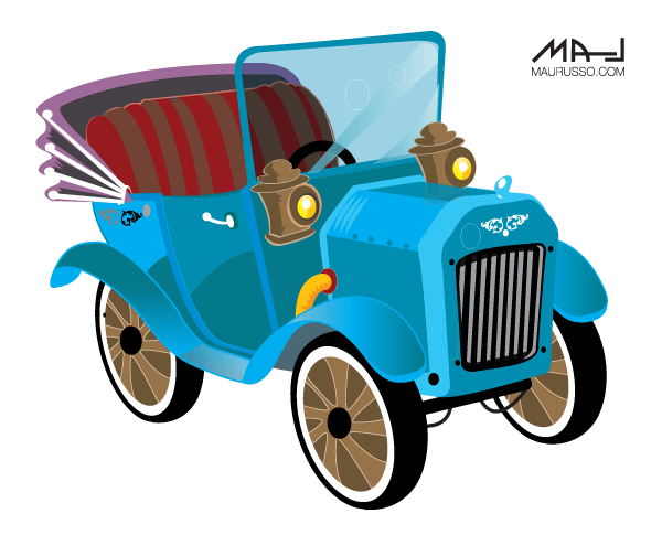 600x485 Old Car Vector Image 123freevectors