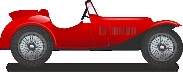 600x238 Vintage Race Car Clip Art