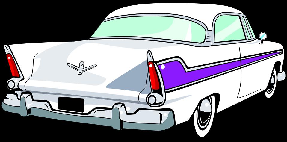 958x474 Behind View Classic Car Clipart