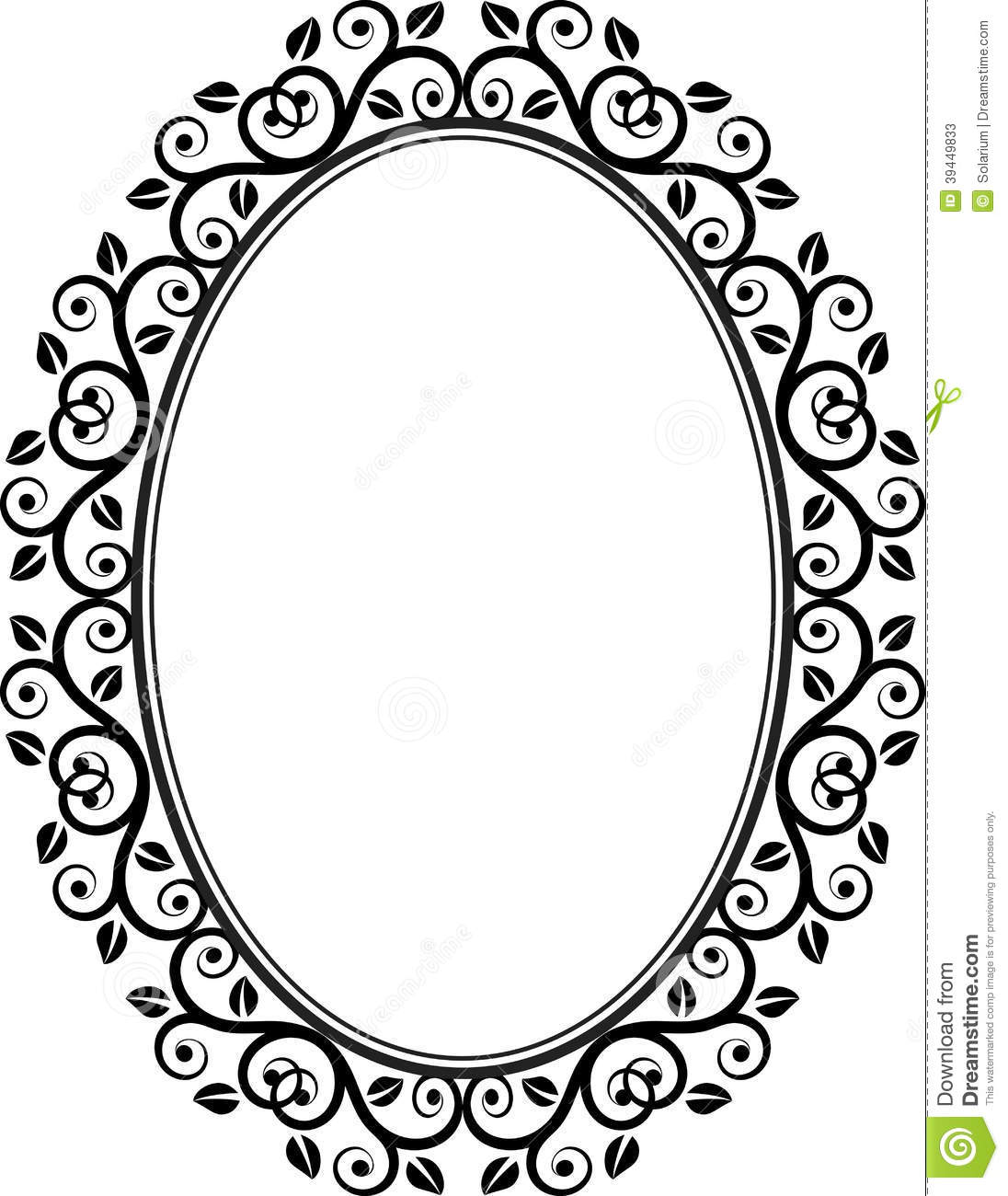 1096x1300 Oval Black Picture Frame Images