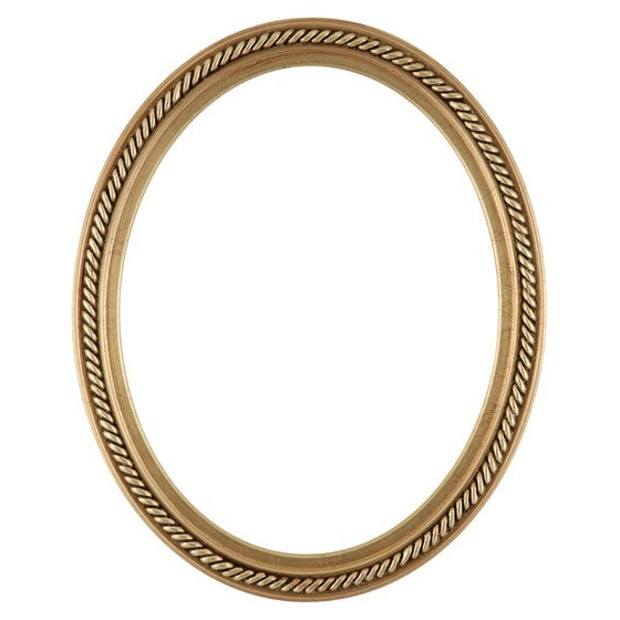 560x560 Oval Frame In Gold Leaf Finish Braided Rope Decals On Vintage