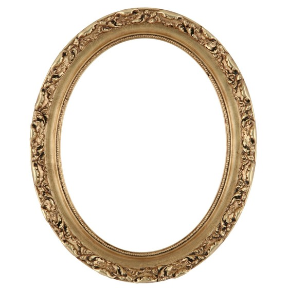 560x560 Oval Frame In Gold Leaf Finish Gold Picture Frame With Antique