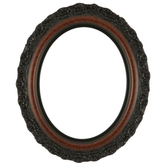 560x560 Oval Frame In Vintage Walnut Finish Antique Stripping On Vintage