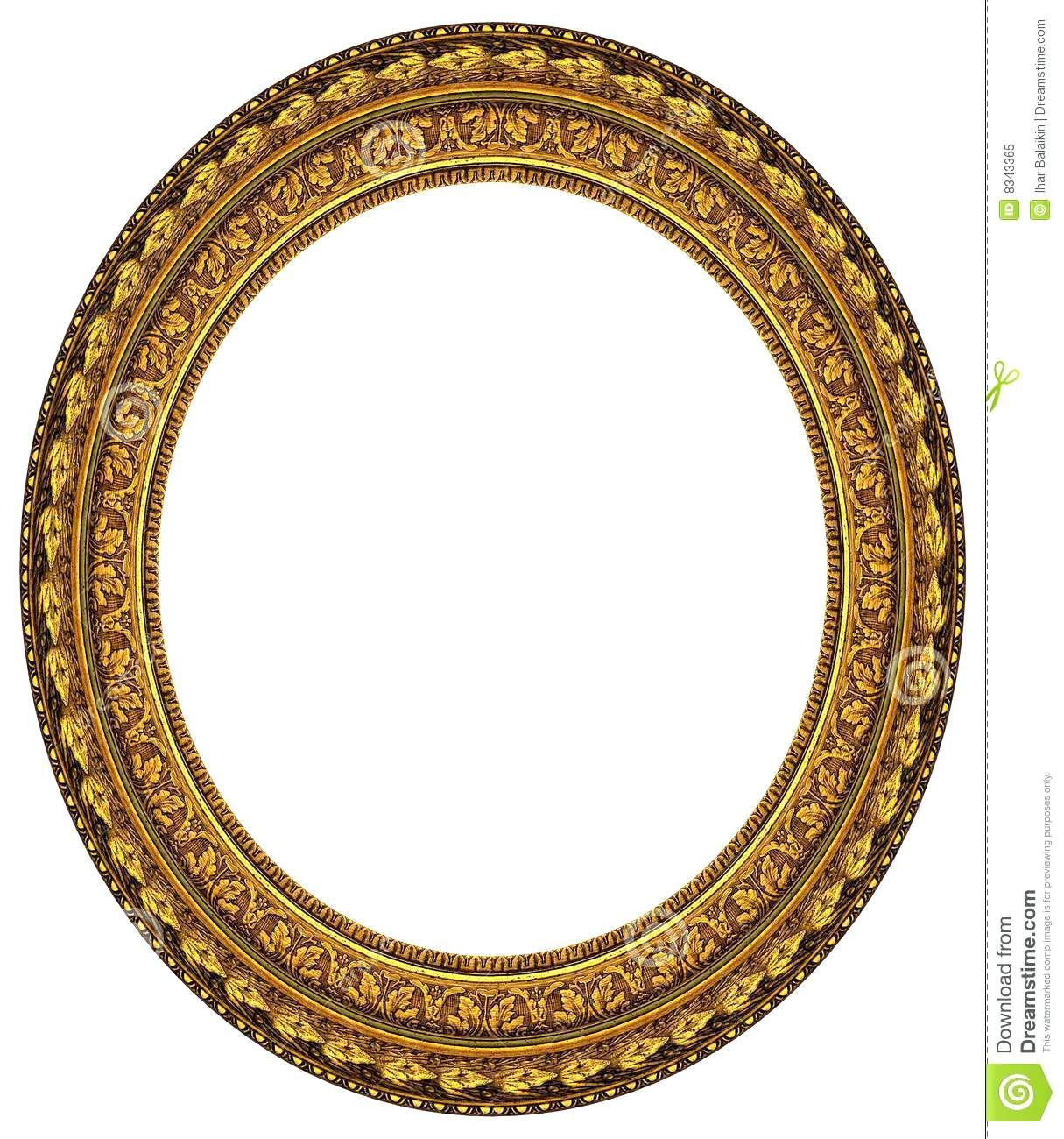 b739abbcf33d Antique Oval Frame