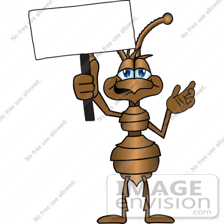 450x450 Cliprt Graphic Of Brownnt Insect Mascot Character Waving