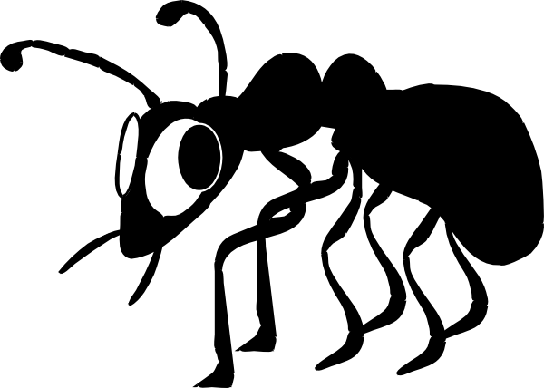 600x428 Cartoon Ant Silhouette Clip Art