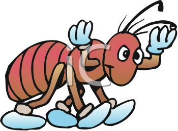 350x259 Royalty Free Clipart Image Cute Cartoon Ant