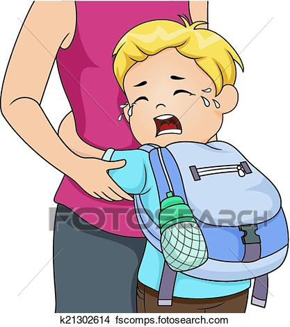 417x470 Clipart Of Separation Anxiety K21302614