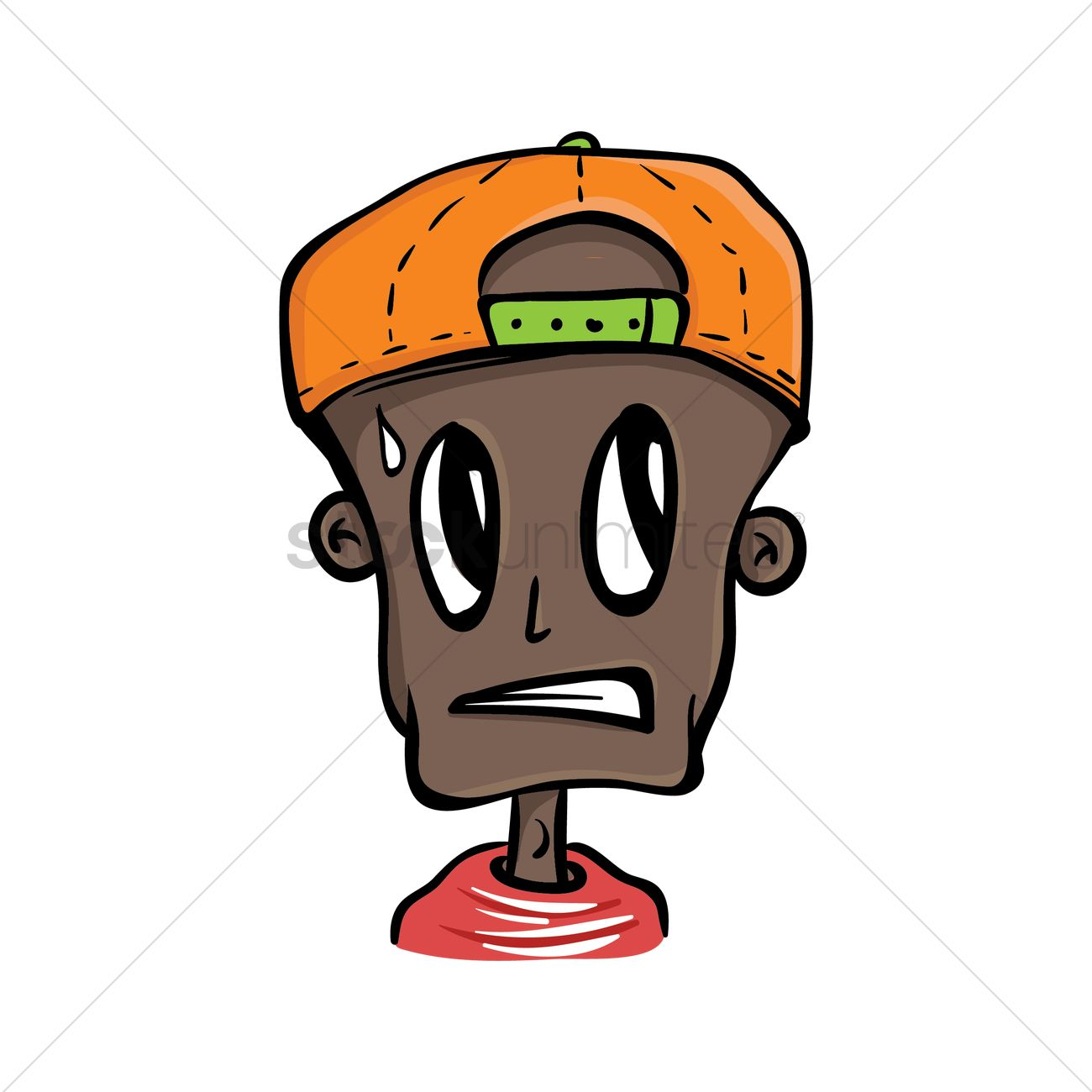 1300x1300 Boy With Cap Feeling Anxious Vector Image