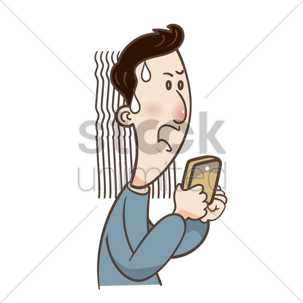 600x600 Cartoon Guy Is Anxious Vector Image